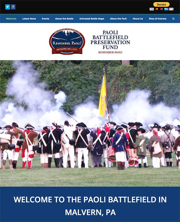 Paoli Battlefield Preservation Fund website